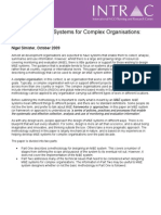 INTRAC Developing ME Systems for Complex 2