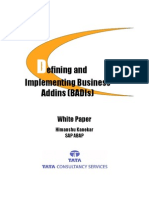 Defining and Implementing Business Addins