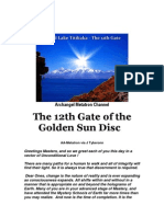 Archangel Metatron Channel 12th Gate of the Golden Sun Disc