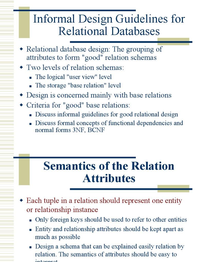 ch14a relational database data management - Database Design Guidelines