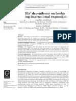 SMEs' dependency on banks during international expansion