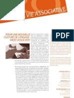 La Vie Associative | n°3 | Pour une nouvelle culture de l'engagement associatif
