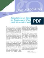 La Vie Associative | n°4 | Associations et démocratie, les fondements d'un nouveau contrat social et politique?