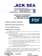 Certificat de Garantie Obiecte Sanitare 41