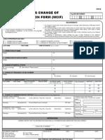 Member's Change of Information Form