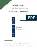 Le principe de droit privé (Patrick MORVAN 1999)