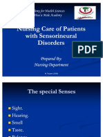 Nursing Care of Patients With Sensorineural Disorders