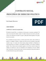 Rousseau_JeanJacques-El Contrato Social, Principios de Derecho Politico Resumen