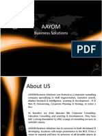 AAYOM Business Solutions - Corporate Presentation
