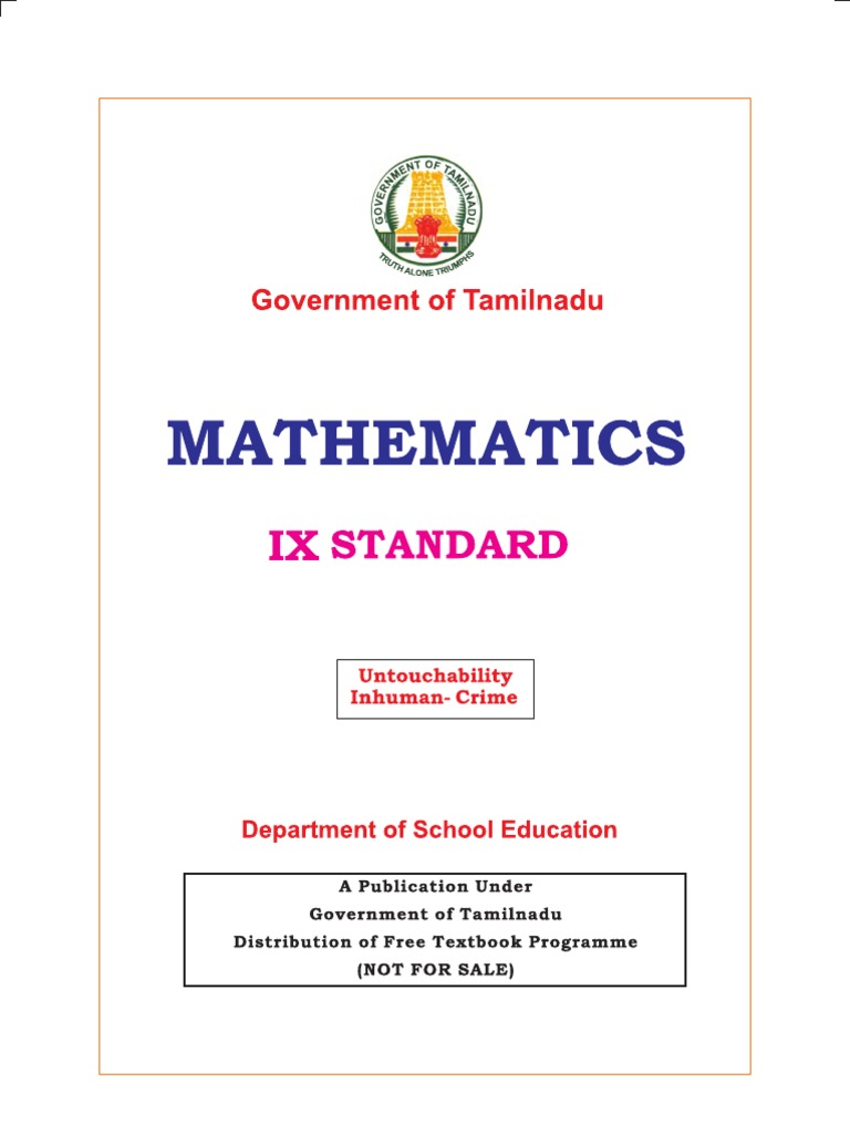 10th Standard Maths Book