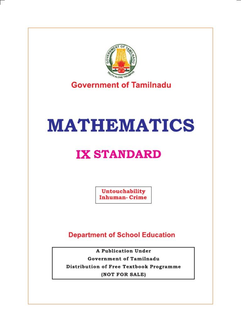 10th Std Samacheer Kalvi Maths Book
