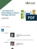 Basics of Automating Cloud Storage_Abiquo_072811
