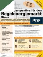 Zukunftsperspektiven für den Regelenergiemarkt Strom