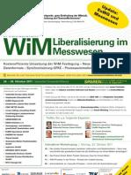 3. Jahresforum WiM - Liberalisierung Im Messwesen