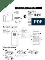 Instalacion y Funcionamiento de Back-UPS RS 550