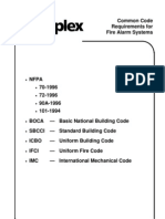 Common Code Requirements for Fire Alarm Systems (1996)
