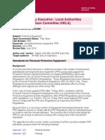 PPE Advisory Document