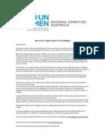 UN Women 2 August 2011 the Ellington Press Release (1)
