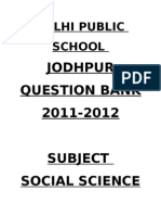 Social Science Question Bank (2)