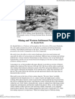 mining and western settlement patterns