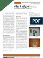 A Portable Gas Analyzer With Wireless Transmission & GPD 410