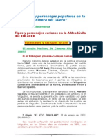 Tipismo de Personajes Populares en La Ribera del Duero. SALAANCA