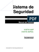 Vista 50P User Manual (Spanish)