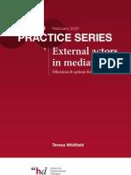 Prática de mediação - atores externos na mediação