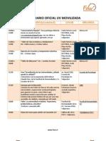 1-7 Agosto calendario Oficial Uv Movilizada