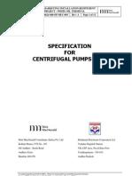 Spec for Centrifugal Pumps - API