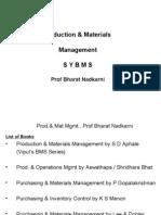 Production & Materials Management 01