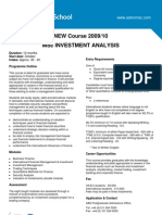 Aston IA Course Flyer 2009