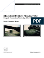 FHWA - Design and Construction Monitoring of Soil Nail Walls Demo