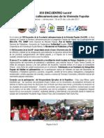 RESEÑA Y DECLARACIÓN XIII Encuentro SeLViP