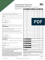 Unicity Franchise Order Form