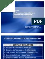 CISA - Tema 1 El Proceso de Auditoria de Sistemas de ion ado