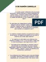 Frases de Ramón Carrillo