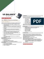 US-1000 Digital scale Instruction Manual | USBALANCE