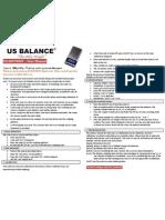 US-HOTSHOT Digital Scale Instruction Manual | USBALANCE