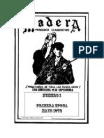 GUERRILLA MADERA N° 1 1972 viejos