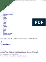 Jakob Von Gunten Se Confunde Com Robert Walser