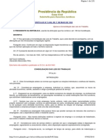 CLT- Consolidação das Leis do Trabalho