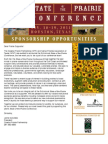 2011 State of the Prairie Conference Sponsorship Letter