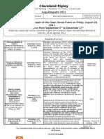 CRNC August Program List