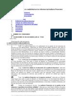 Etica Profesional y Credibilidad Informes Auditoria Financier A