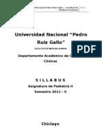 SYLABUS PEDIATRIA II, 2011