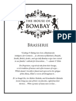 The House of Bombay - Menu - Brasserie