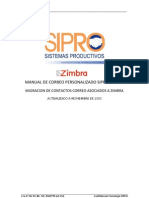 Manual de Usuario Zimbra Sipro