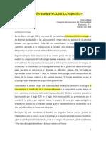 DIMENSIÓN ESPIRITUAL DE LA PERSONA