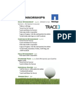 Sponsorship and Registration Golf 2011